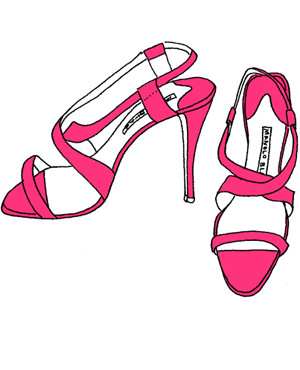 A Pair of Hot Pink Manolos